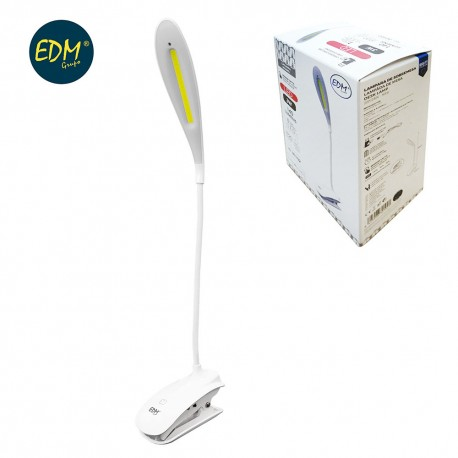 FLEXO RECARGABLE LED 3W 140 LUM CON PINZA